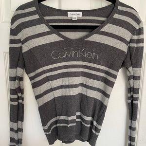 Calvin Klein rhinestone sweater